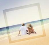 Couple at Beach, Love Concept — Stock Photo