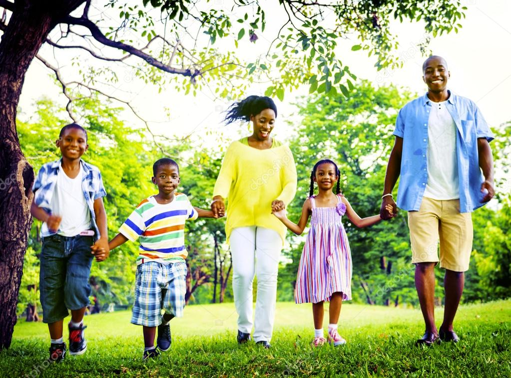 Download - African Happy family having fun — Stock Image #91323388