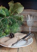 Lugar de navidad mesa — Foto de Stock