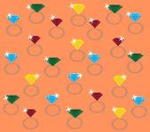 Diamonds rings — Stock Vector