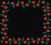 Rose frame — Stock Vector