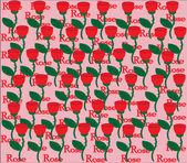 Roses en jacquard — Vecteur
