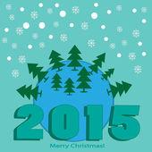 Funny Christmas card — Stock Vector