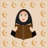 Muslim girl — Stock Vector