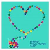 Kalp, öğe için Sevgililer günü kartı — Stok Vektör