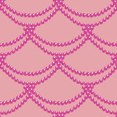 Seamless pattern with a beads on a pink background. — Vector de stock