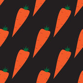 Seamless pattern with carrots on the black background — Stockvektor
