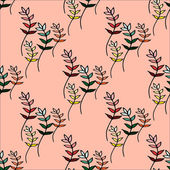 Seamless pattern with colorful branches — Stock Vector
