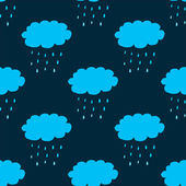Seamless pattern with clouds and precipitation — Stockvektor