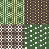 Patterns with clover — Stock vektor