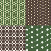 Patterns with clover — Vetor de Stock