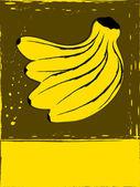 Postcard with bananas — Wektor stockowy
