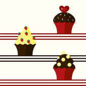 Background with cupcakes — Stock Vector