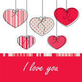 Card with love — Vector de stock