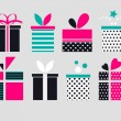 Gift box icons — Stock Vector #67862757