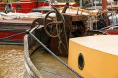 Old boat equipment fore deck — Stock Photo