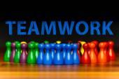 Concept teamwork, organization, group multi color text — Stock Photo