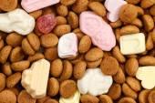 Background pepernoten and sweets Sinterklaas — Stock Photo