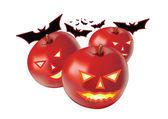 Apple halloween — Stock Vector