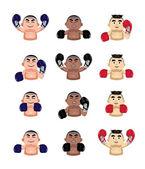 Boxer icons set — Stockvektor