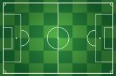 Ilustración de un campo de fútbol — Vector de stock