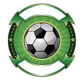 Soccer ball banner — Stockvektor