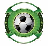 Soccer ball banner — Vector de stock