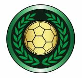 Golden soccer ball icon — Stock Vector