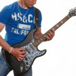 Постер, плакат: Guitar electric guitar a man holding a guitar in his hands