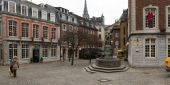 Fragments of urban life, the old German city of Aachen — Stock Photo