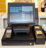 Cash register, object, part of the kitchen, some cafes and restaurants — Stock Photo