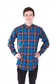 Young handsome smilling man in shirt isolated on white — Stock Photo