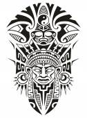 Ancient Tribal Mask Vector illustration — Stock Vector