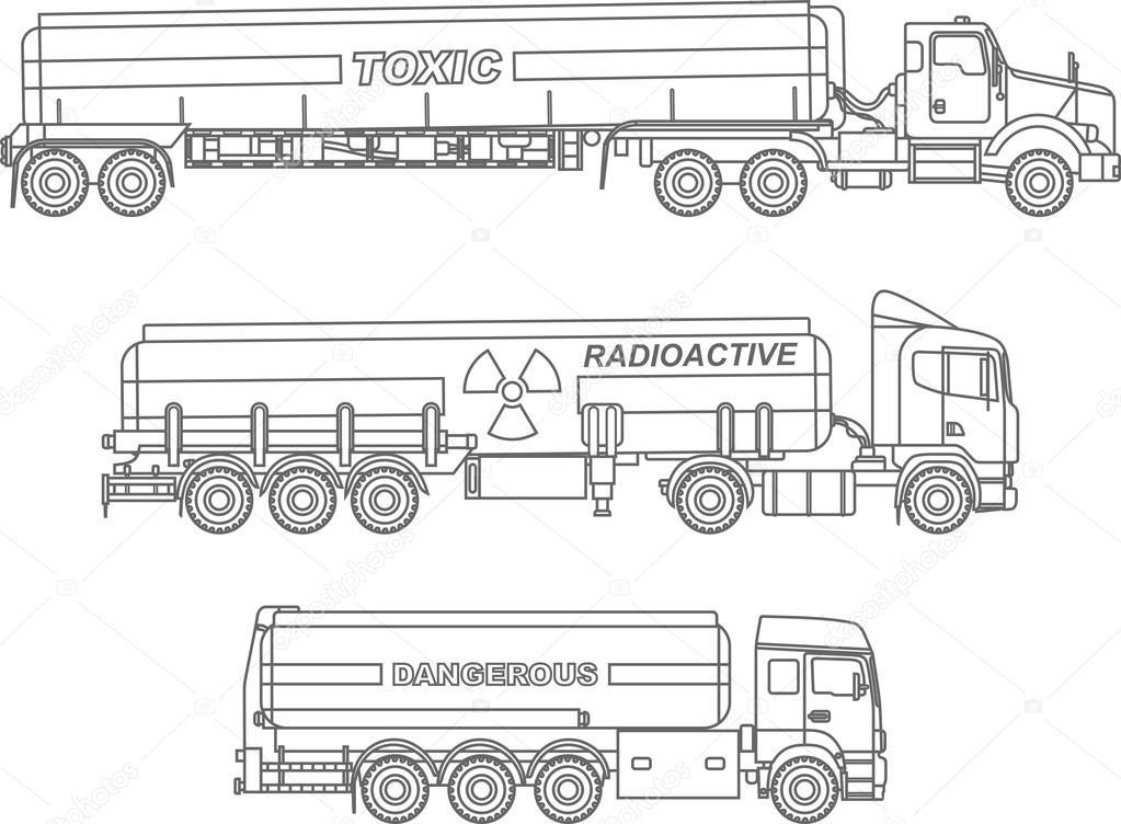 Disegni da colorare set di camion cisterna di tipo for Immagini del piano casa gratis