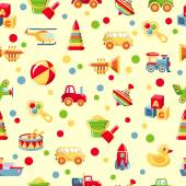 Seamless toys pattern — Stock Vector