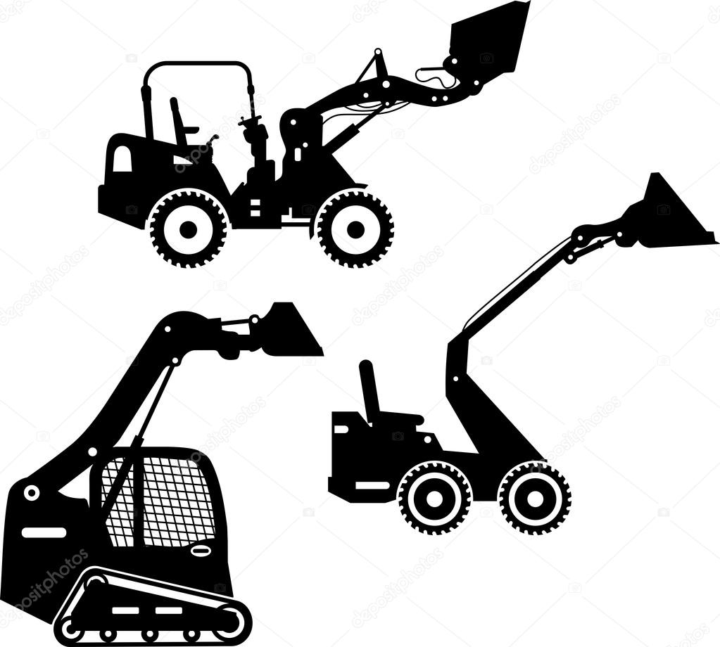 Tractor Steering Wheel Clip Art : Skid steer silhouette pictures to pin on pinterest daddy