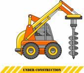 Drilling equipment. Heavy construction machines. Vector illustration — Cтоковый вектор