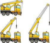Cranes. Heavy construction machines. Vector illustration — Stock Vector