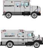 Security car on a white background in a flat style — Stock Vector