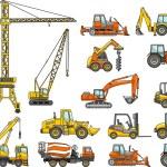 Set of heavy construction machines. Vector illustration — Stock Vector #69745091