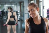 Woman in the gym. — Stock Photo