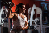 Workout in the gym — Stockfoto