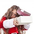 Little christmas girl with gift. — Stock Photo #54017661