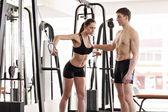 Treino com personal trainer — Fotografia Stock
