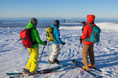 Group of skiers in the mountains — Stock Photo