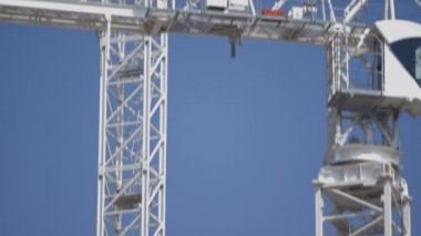 Cranes on construction site — Stock Video