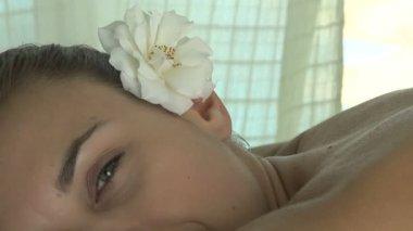 Woman having massage — Stock Video