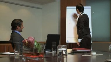 Businesswoman giving a presentation — Stock Video