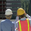 Construction workers on a site — Stock Video #67025741
