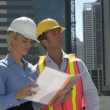 Construction workers on a site — Stock Video #67028007